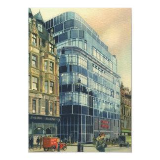 Vintage Daily Express Building on Fleet Street Card
