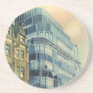 Vintage Daily Express Building on Fleet Street Drink Coaster