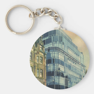 Vintage Daily Express Building on Fleet Street Keychain