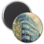 Vintage Daily Express Building on Fleet Street Refrigerator Magnets