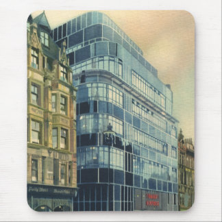 Vintage Daily Express Building on Fleet Street Mouse Pad