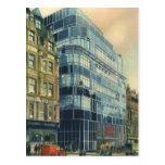 Vintage Daily Express Building on Fleet Street Postcard