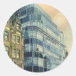 Vintage Daily Express Building on Fleet Street Round Sticker