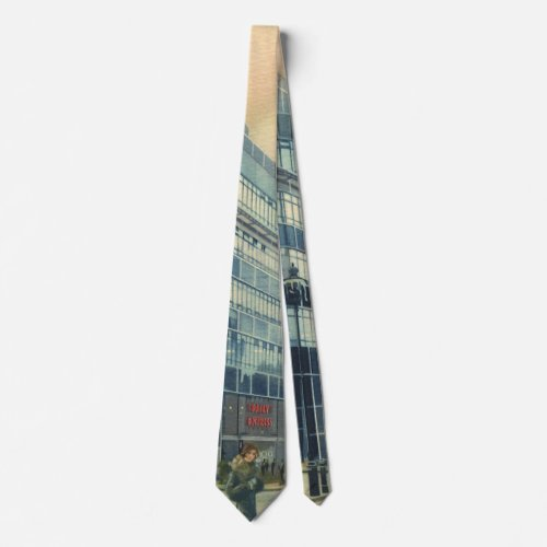 Vintage Daily Express Building on Fleet Street Tie