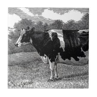 Vintage Dairy Cow Tile