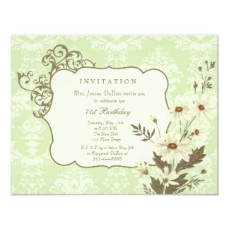 Vintage Daisies 70th-79th Elegant Birthday Party Card