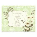 Vintage Daisies 70th-79th Elegant Birthday Party Invitations