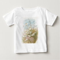 Vintage Daisies In A Field Easter Card Baby T-Shirt
