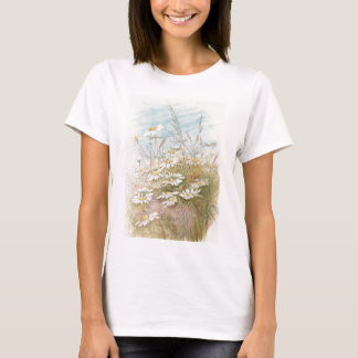 Vintage Daisies In A Field Easter Card T-Shirt