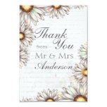 Vintage Daisies & Writing Thank You Card