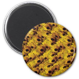 Vintage daisy 2 inch round magnet