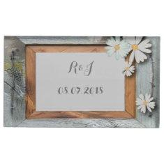 vintage daisy barn wood western country wedding table card holder