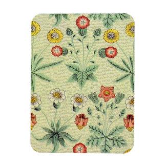 Vintage Daisy Floral Pattern Designer Wallpaper Rectangular Photo Magnet