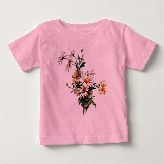 *Vintage Daisy* Flower Art Baby T-Shirt