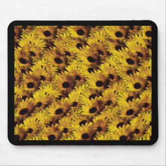 Vintage daisy mouse pad