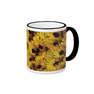 Vintage daisy ringer mug