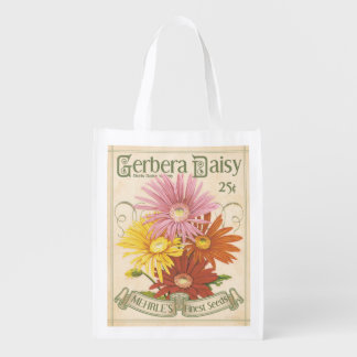 Vintage Daisy Seed Packet, grocery bag