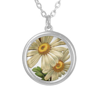 Vintage Daisy Silver Plated Necklace