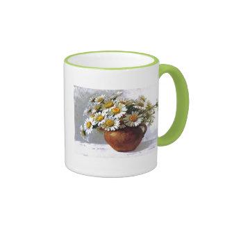 Vintage Daisy Vase Mug