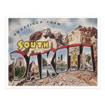 Vintage Dakota del Sur Postales