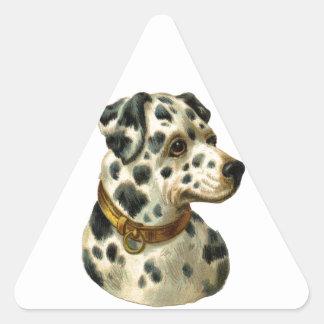 Vintage Dalmation Triangle Sticker