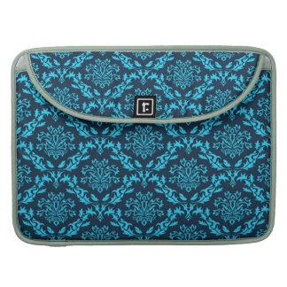 Vintage, damasco, victorian, aquamarine, negro, funda macbook pro