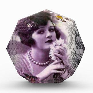 Vintage damask art deco gatsby Flapper Girl Award