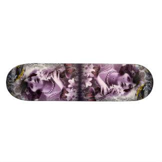 Vintage damask art deco gatsby Flapper Girl Skateboard Deck