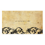 Vintage Damask Black Swirl Wedding Placecards Business Card Template