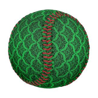 Vintage Damask Brocade Green Black Baseball