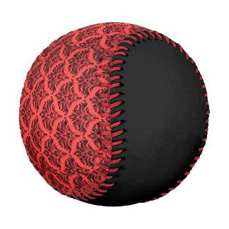 Vintage Damask Brocade Red Black Baseball