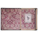 Vintage Damask Burgundy iPad Covers