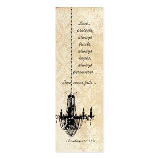 Vintage Damask Chandelier Wedding Tags Mini Business Card
