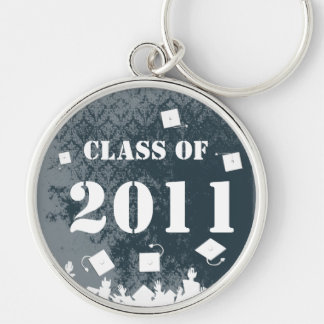 Vintage Damask Class of 2011 Keychain Tossing Caps