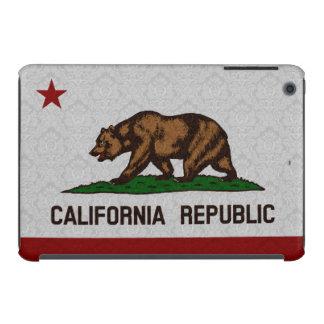 Vintage Damask Flag of California Republic Pattern iPad Mini Cases