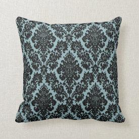 vintage damask fleur de lis pattern pillow