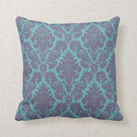 vintage damask fleur de lis pattern pillows