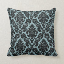 vintage damask fleur de lis pattern throw pillow