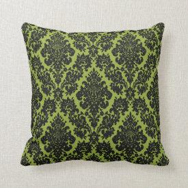 vintage damask fleur de lis pattern throw pillow