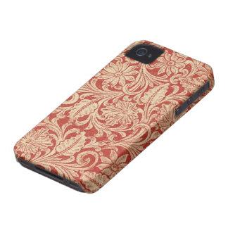 Vintage Damask Floral Red Blackberry Bold 97009780 iPhone 4 Case