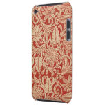 Vintage Damask Floral Red Case-Mate iPod Touch Barely There iPod Covers