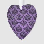 Vintage Damask Flourish Purple and Black