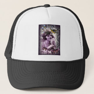 vintage damask gatsby girl trendy parisian trucker hat