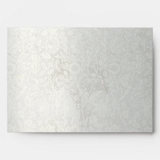 Vintage Damask  Gray Wedding Envelope