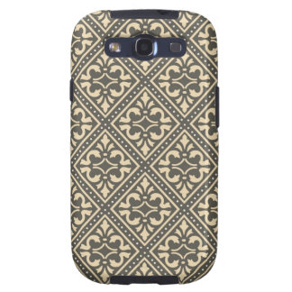 Vintage Damask Grey Galaxy S3 Cover