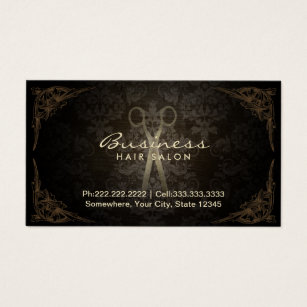 Appointment business cards templates zazzle vintage damask hair stylist salon appointment business card cheaphphosting Choice Image