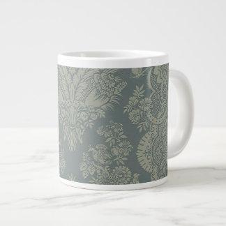 Vintage Damask in Antique Green Extra Large Mugs