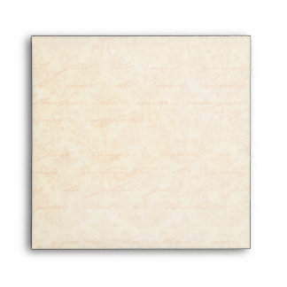 Vintage Damask in Gold & Ivory: Linen Square Envelope