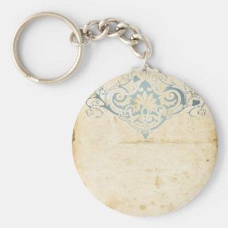 Vintage Damask Keychain