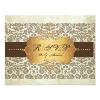 Vintage Damask Lace/RSVP cards/require 5x7invites Personalized Invitations